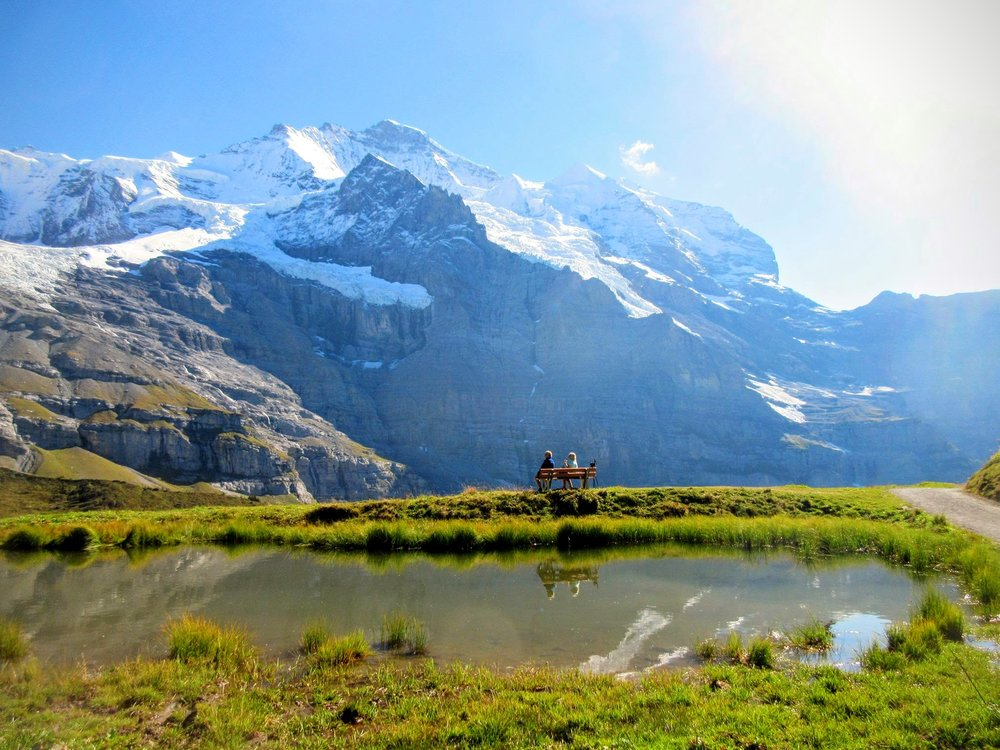 Switzerland's Misty Mountains (photo credit to Iain, my companion on a rare social hike)
