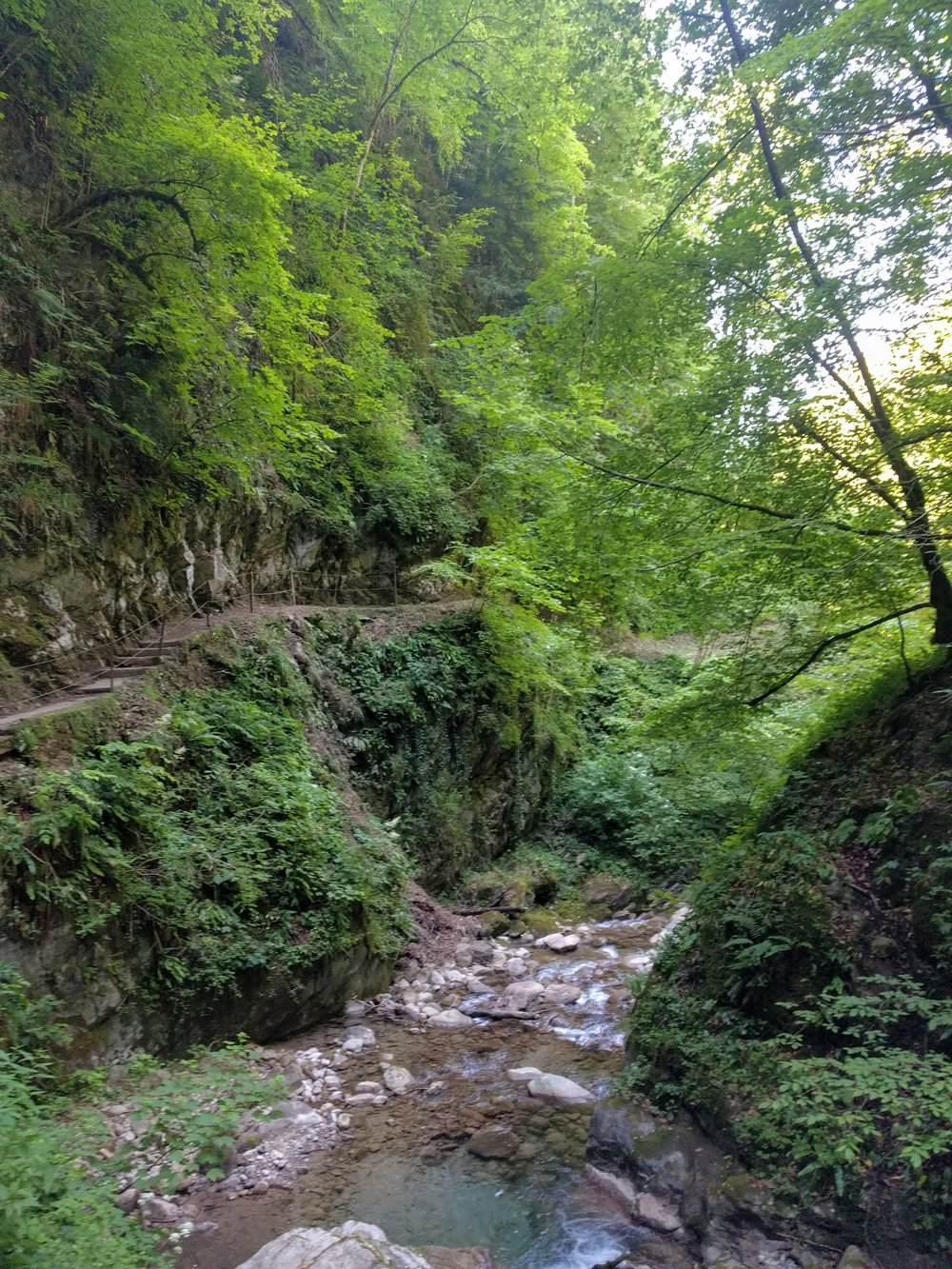 The  Gorges du Chauderon , just a short walk from the Old Town of Montreux.